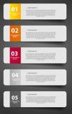 Иллюстрация вектора шаблона дела Infographic Стоковая Фотография