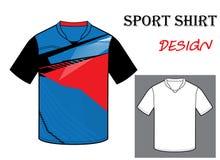 Иллюстрация вектора шаблона футболки футбола стоковая фотография rf