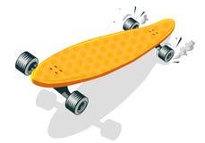 Иллюстрация вектора шаржа длинной доски холодная шуточная Стоковая Фотография RF