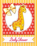 Иллюстрация вектора шаржа младенца жирафа Стоковое Изображение RF