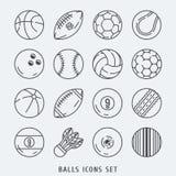 Иллюстрация вектора шариков установленная значками Стоковые Фотографии RF