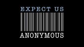 Иллюстрация вектора - штемпель блока развертки штрихкода с сообщением Надейтесь нас - анонимные customizable Стоковое Фото
