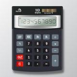 Иллюстрация вектора электронного калькулятора на белом bac Стоковое Фото