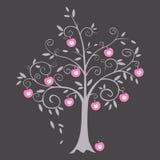 Иллюстрация вектора яблони Стоковые Изображения