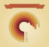 Иллюстрация вектора для веб-дизайна, infographics. Стоковая Фотография