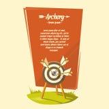 Иллюстрация вектора для archery клуба Стоковые Фото