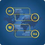 Иллюстрация вектора для infographics дела Стоковые Фотографии RF