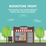 Иллюстрация вектора Bookstore передняя Стоковые Изображения RF