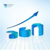 иллюстрация вектора 3D infographic для статистик, аналитика, финансовых обзоров состояния рынка, представления с Стоковое Изображение RF