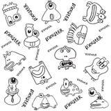 Иллюстрация вектора doodle изверга Стоковая Фотография RF