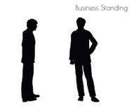 Иллюстрация вектора EPS 10 человека в представлении деловой репутации на белую предпосылку Стоковые Фото