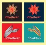 Иллюстрация вектора flower&leaft логотипа Стоковое фото RF
