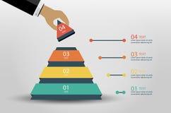 Иллюстрация вектора Infographics дела Стоковое Изображение