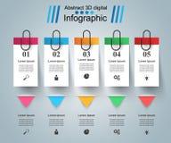 Иллюстрация вектора Infographics дела Pin, значок зажима Стоковая Фотография