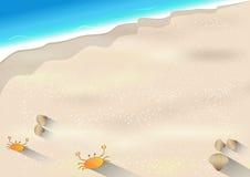 Иллюстрация вектора Seascape Стоковые Фото