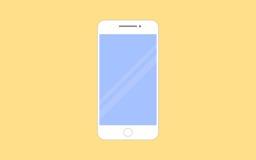 Иллюстрация вектора Smartphone в плоском стиле дизайна Иллюстрация штока