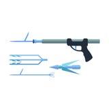 Иллюстрация вектора Speargun Стоковые Изображения RF