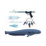 Иллюстрация вектора Speargun Стоковая Фотография