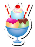 Иллюстрация вектора Sundae мороженого иллюстрация вектора