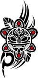 Иллюстрация вектора Taino Солнця племенная Стоковые Фото