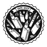 Иллюстрация вектора vape Стоковая Фотография RF