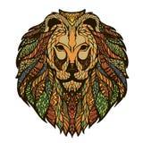 Иллюстрация векторной графики головы льва иллюстрация штока