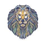 Иллюстрация векторной графики головы льва Стоковые Изображения RF