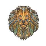 Иллюстрация векторной графики головы льва Стоковые Изображения