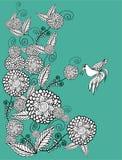 Цветки год сбора винограда Стоковое Изображение RF