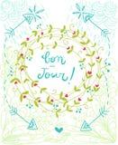 Иллюстрация венка Bonjour Стоковые Фотографии RF