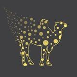 иллюстрация Верблюд в горохах эскиз Стоковые Фото