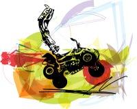 Иллюстрация велосипеда квада Стоковые Изображения RF