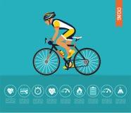 иллюстрация велосипедиста bike резвится вектор Вектор велосипеда infographic бесплатная иллюстрация