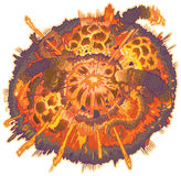 Иллюстрация взрыва искусства зажима шаржа вектора Стоковая Фотография RF