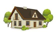 Иллюстрация визуализировать дом Стоковые Фото