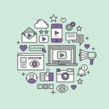 Иллюстрация видео- Blogging Стоковые Изображения RF