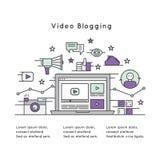 Иллюстрация видео- Blogging Стоковое Изображение RF