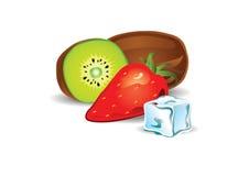 Иллюстрация вкуса кивиа и клубники Стоковая Фотография RF