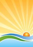 Иллюстрация восхода солнца Стоковое Изображение