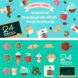 Иллюстрация времени кофе Стоковые Фотографии RF