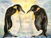 Иллюстрация влюбленности пингвина Бесплатная Иллюстрация
