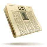 Иллюстрация газеты реалистическая Стоковые Изображения RF