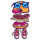 иллюстрация гамбургера архива ai имеющаяся Бесплатная Иллюстрация