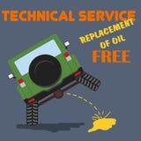 Иллюстрация гаража магазина технического обслуживания ремонта автомобиля Стоковое Изображение