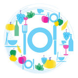 Иллюстрация гастрономии еды и питья Стоковое фото RF