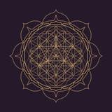 иллюстрация геометрии мандалы вектора священная иллюстрация штока