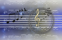 Иллюстрация гитары & музыки Стоковые Изображения