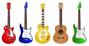 Иллюстрация гитары установленная Стоковая Фотография
