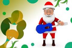 иллюстрация гитары 3d santa Стоковые Фото