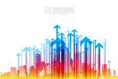Иллюстрация горизонта города Стоковое Изображение RF